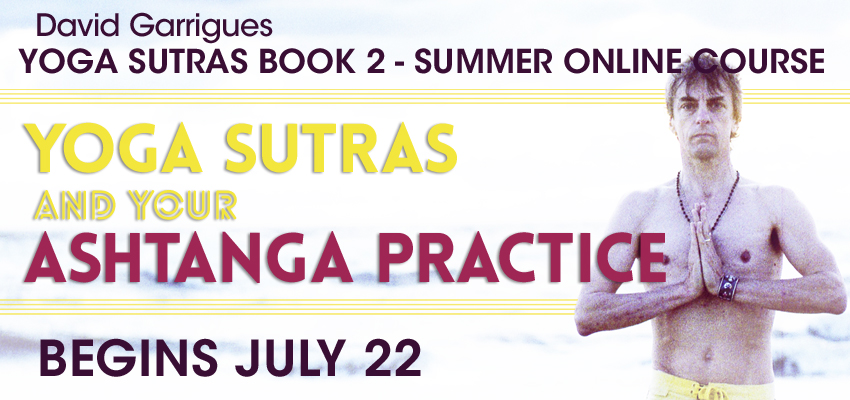 Yoga Sutras Book 2 Summer Online Course