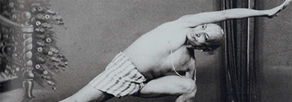 T. Krishnamacharya - Uttitha Parsvakonasana (Extended Side Angle Posture)