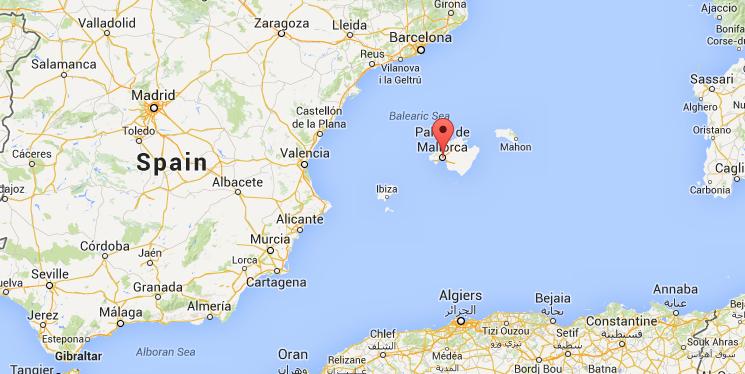 Map of palma de mallorca