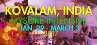 David's Kovalam Mysore Intensive is a nonresidential intensive. Students find their own lodging and food at any one of the dozens of hotels and restaurants. It is easy to find accommodations that suit your budget.